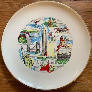 Vintage New York Souvenir Plate